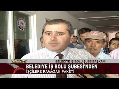 BELEDİYE-İŞ BOLU ŞUBESİ'NDEN İŞÇİLERE RAMAZAN PAKETİ