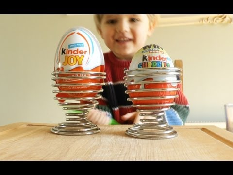 Kinder Joy Egg and Kinder Surprise Egg for Sami to pick Kinder Merendero