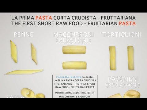 la prima pasta corta crudista (raw food) - fruttolina