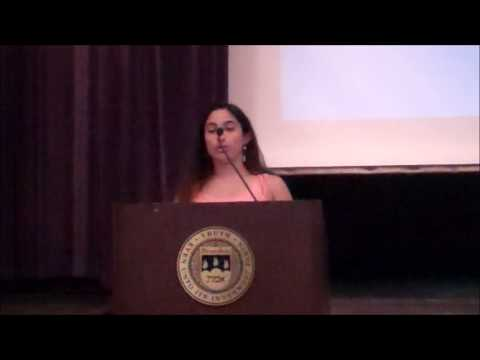Marissa Lazar delivers a Senior Address at the 2014 Departmental Awards Brunch