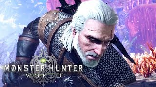 Monster Hunter World - Geralt of Rivia Reveal Trailer | Witcher 3 Collaboration by GameSpot