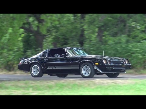 black 1981 Chevy Camaro Z28 4-speed with cold air cowl induction