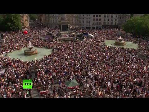 В центре Лондона проходят протесты против Трампа