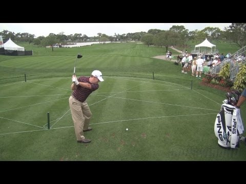 GOLF SWING 2013 – JEFF MAGGERT DRIVER – ELEVATED DTL FULL SPEED & SLOW MOTION – 1080p HD