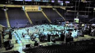 Time Lapse - NCAA Tournament, Videoboard Removal, & Cirque Load In