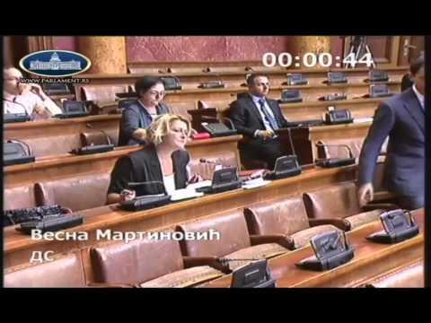 Весна Мартиновић на седници о амандманима на законе који се односе на рад државних службеника