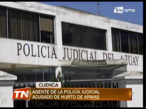 Agente de la policía judicial acusado de hurto de armas