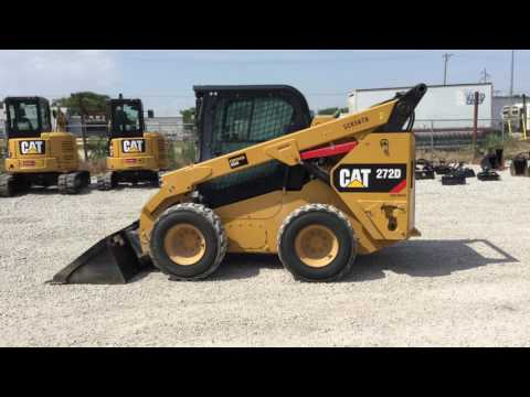 CATERPILLAR SKID STEER LOADERS 272DSTD2CA equipment video seZ8EUeqruw