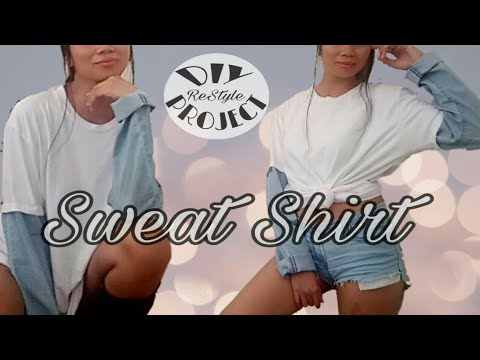 DIY Jeans Sleeve Sweat Shirt I DIY ReStyle Project I Philippines