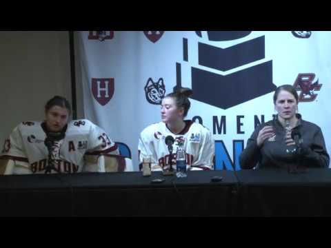 Women's Hockey: Beanpot Championship Press Conference (Feb. 13, 2018)