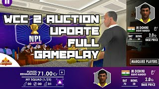 WCC2 IPL 2019 Auction Update Full Gameplay Review World cricket championship aNdroid / IOS