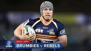 Brumbies v Melbourne Rebels Rd.1 2019 Super rugby video highlights| Super Rugby Video Highlights