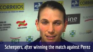 Chanelle Scheepers comenta estreia no Brasil Tennis Cup