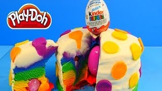 Play Doh Rainbow Cake Tutorial - How To Make Playdough Kinder Surprise Egg Cake with Toys. Play-Doh is all about do it yourself (DIY) and we wanted to ...