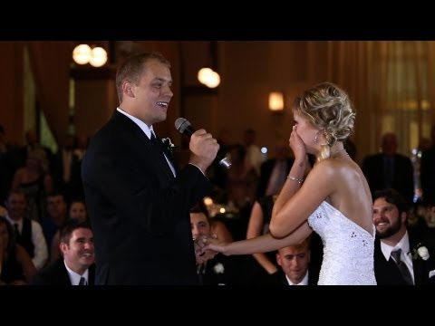 Singing - Kenny decided to surprise his new bride, Kayla with a surprise song and flash mob. He plotted and planned months before the wedding to pull this off. The ent...