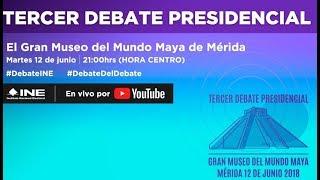 Video Tercer debate presidencial EN VIVO desde Mérida, Yucatán MP3, 3GP, MP4, WEBM, AVI, FLV Juni 2018