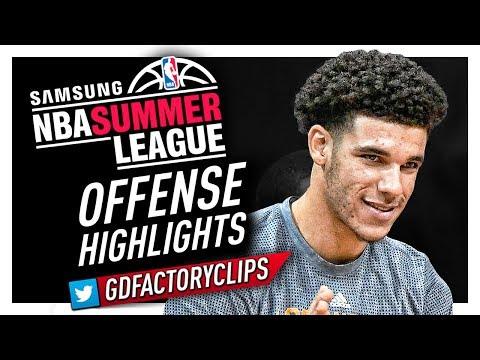 Lonzo Ball MVP Offense Highlights (2017 Summer League) - LA Lakers Debut!