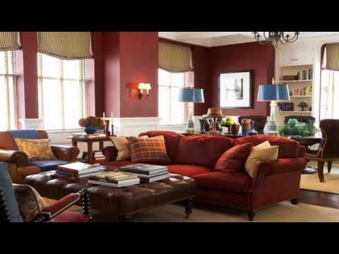 Maroon Living Room Walls