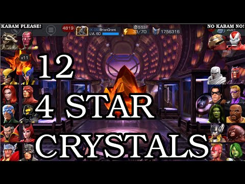 A 'strange' 12 Four Star Crystal Opening | Marvel Contest Of Champions