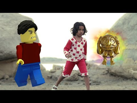 Temple Run Blazing Sands In Real Life || Minecraft || Funny Kids
