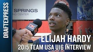 Elijah Hardy 2015 Team USA U16 Interview - DraftExpress