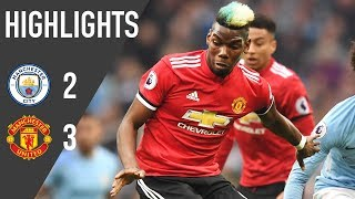 Download Video Manchester United 3-2 Manchester City | Premier League Highlights (17/18) | Manchester United MP3 3GP MP4