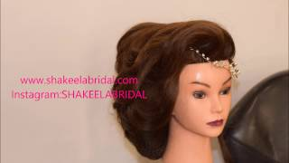 vintage Pakistani bridal side up do /hairstyle [no music]