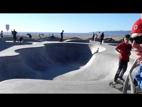 Bennett Harada Method Grab Venice Beach Skate Park