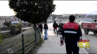 SAMSUN'DA SEYİR HALİNDEKİ ARAÇ YANARAK KÜL OLDU...