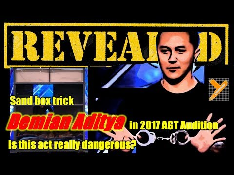 Revealed: Demian Aditya (Sandbox Escape Trick) in AGT 2017 Audition (видео)
