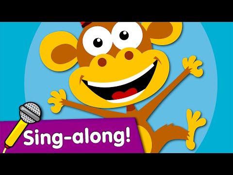 Five Little Monkeys Sing-along   Kids Songs   #readalong with Super Simple Songs