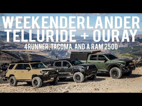 WEEKENDERLANDER Ep 14 (pt 1) - Overland Telluride + Ouray - Tacoma, 4runner, Ram (Fotornr)
