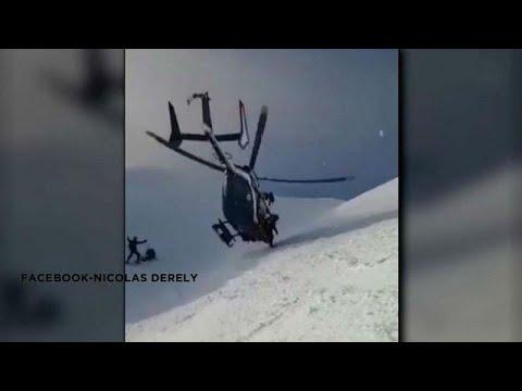 ΒΙΝΤΕΟ: Διάσωση σκιερ στις Άλπεις – Εικόνες που κόβουν την ανάσα…