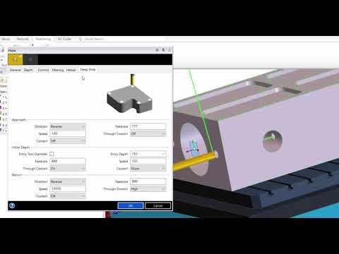 Deep Hole Drilling Cycle Edgecam 2018 R1 (видео)