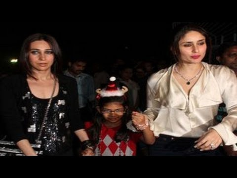 Kareena Kapoor & Karishma @ Midnight Mass for CHRI