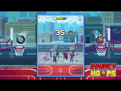 Bouncy Hoops gameplay