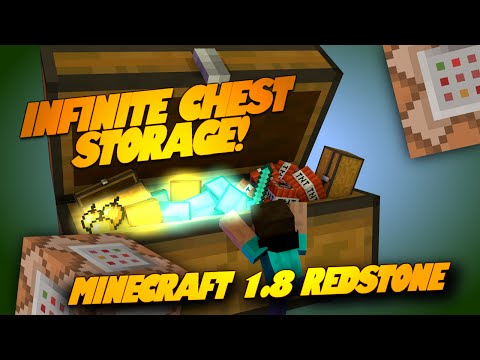 Minecraft Redstone MEGA CHESTS! INFINITE Storage! Epic Minecraft Redstone Creations (Minecraft 1.8)