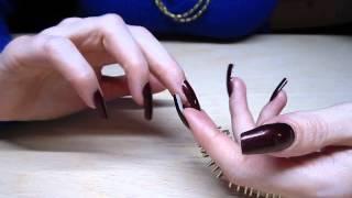 Elegant Long Painted Nails Of Naila Nails Tapping (video 2)