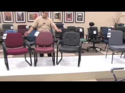 Video for Black Leather Executive Mid Back Chair
