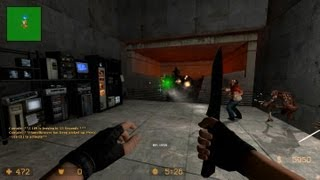 Counter Strike Source Zombie Escape mod online gameplay on Blackmesa map