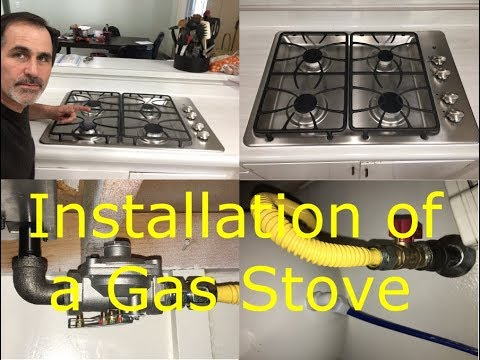 How to Install a Gas Stove and Remove an Electric Stove - James