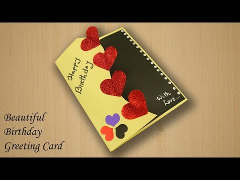 Birthday wishes for best friend - Beautiful Birthday Greeting Card Idea - Beautiful Handmade Birthday card idea - DIY Birthday card