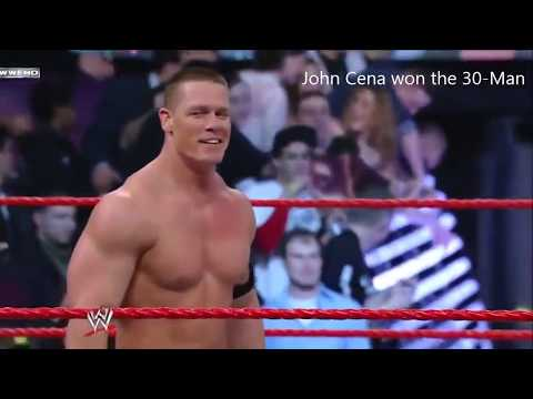 John Cena won the 30 Man Royal Rumble Match 2008