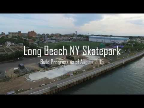 The New Long Beach NY Skate Park - Build Progress 8/15