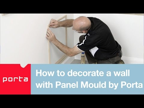 How to decorate a wall with Panel Mould by Porta