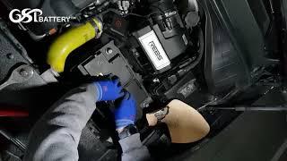 올 뉴 쏘렌토 자동차 배터리 지에스피 리튬인산철 엑스파워 100Ah 설치 영상