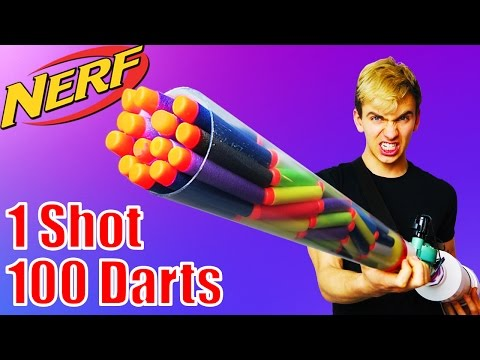 Most Dangerous Nerf Mod Ever! (Nerf Shotgun) (видео)