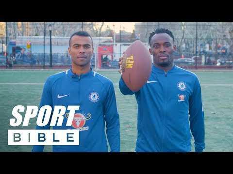 Chelsea FC's Michael Essien And Ashley Cole Are Terrible At The Crossbar Challenge