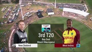 NZ vs WI 3rd T20 Highlights 3 January 2018 | Colin Munro 104 Runs | West Indies tour of New Zealand