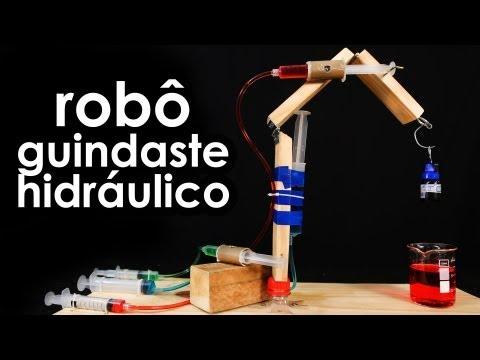 Como fazer um robô guindaste hidráulico (experiência de hidráulica)